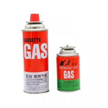 Camping Round Shape Made in china aerosol canister butane gas aerosol cans refill the most favorable