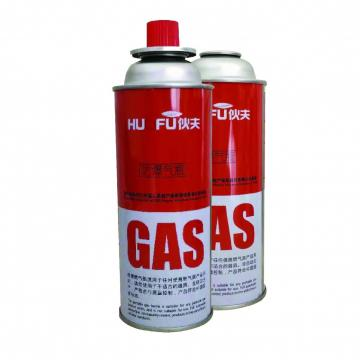 Explosion Proof Butane Gas Cartridge Aerosol Straight Can with Gas Valve