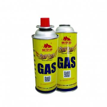 Cleaning Portable Outdoor Butane Gas Cartridge Aerosol Straight Can with Gas Valve